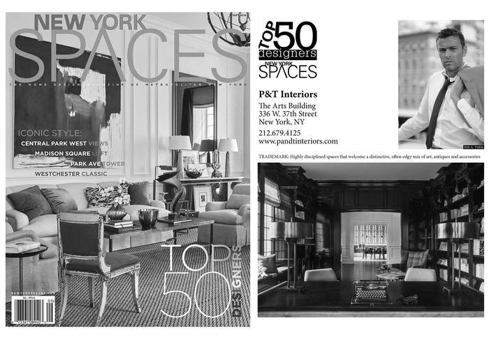 Top 50 designers new york spaces p t interiors for Top decorators new york