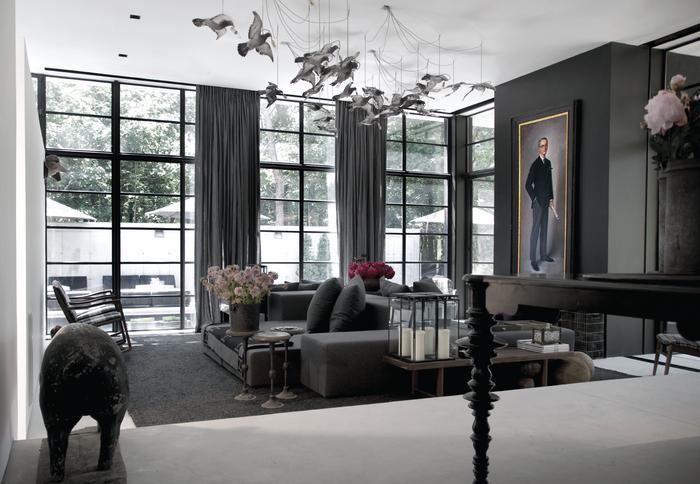 Sag harbor p t interiors boutique interior design firm - Green living room ideas in east hampton new york ...